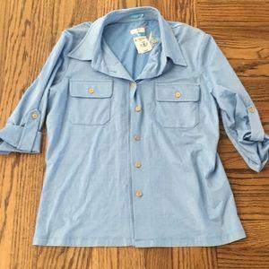 J.mclaughlin 3/4 sleeve knit shirt